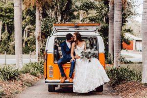fun wedding transportation wedding car combi